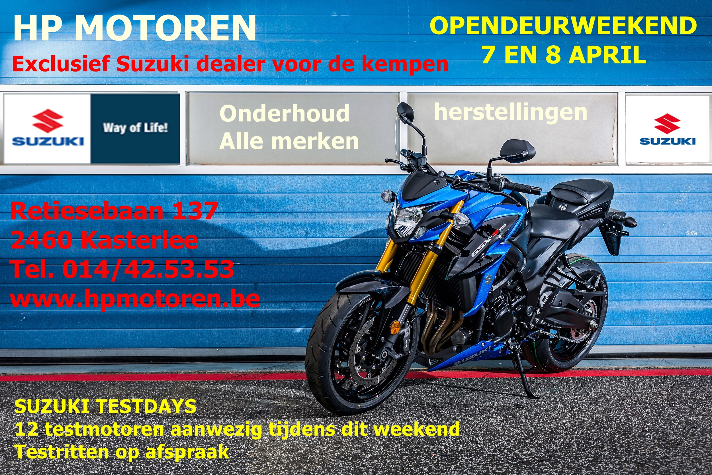 OPENDEURDAGEN 7 EN 8 APRIL